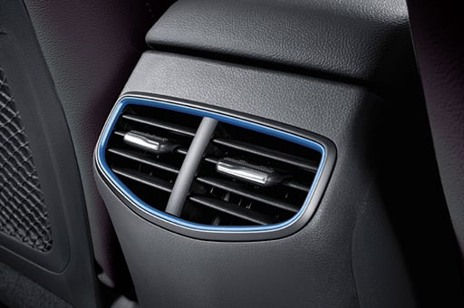 Rear seat air ventilation for cooling and heating