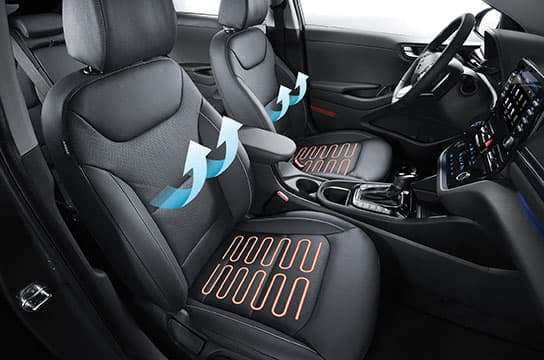IONIQ plug-in hybrid  front ventilated / heated seats