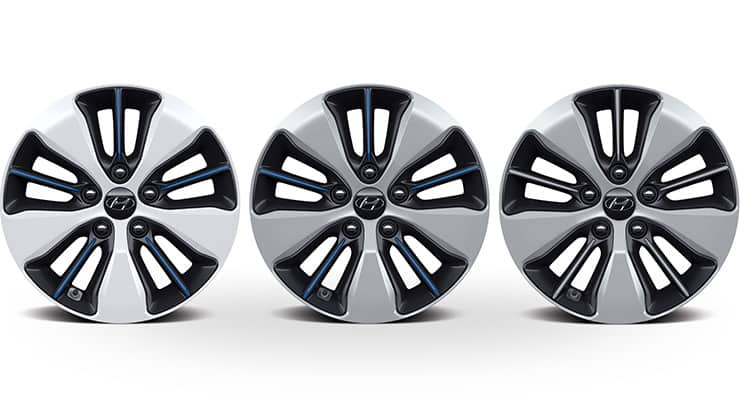 Wheels in different colors