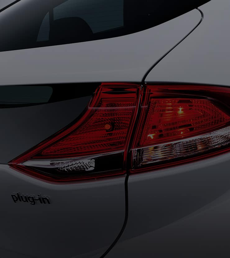 Closer view of rear combination lamps