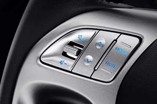 Steering wheel remote control buttons