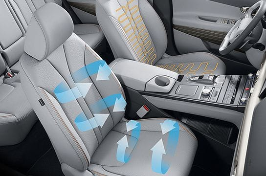 Front ventilated / heated seat