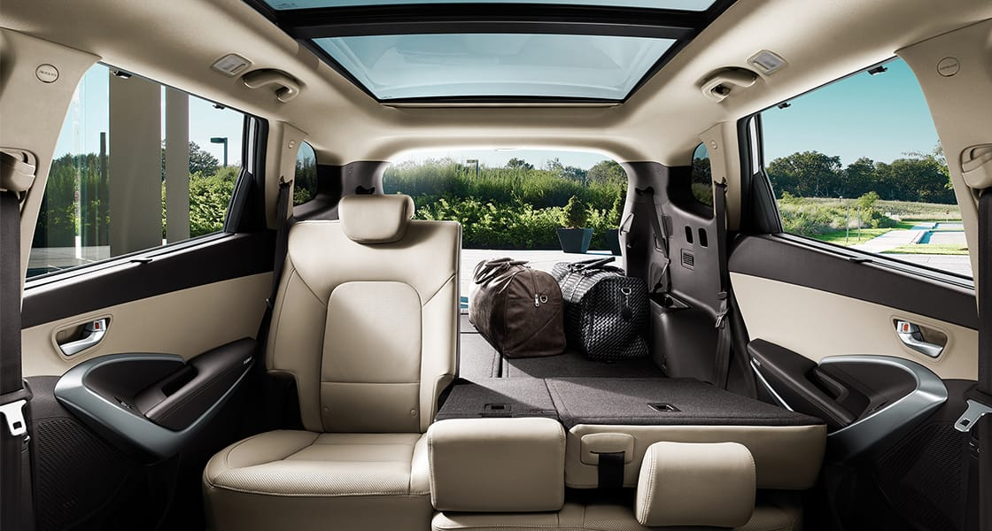 Superb ... Panoramic View Of Back Seat Interior With Left Seat Folded ...