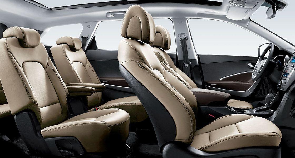 grand santa fe interior rear seat