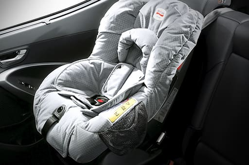 Child anchor system on rear seat