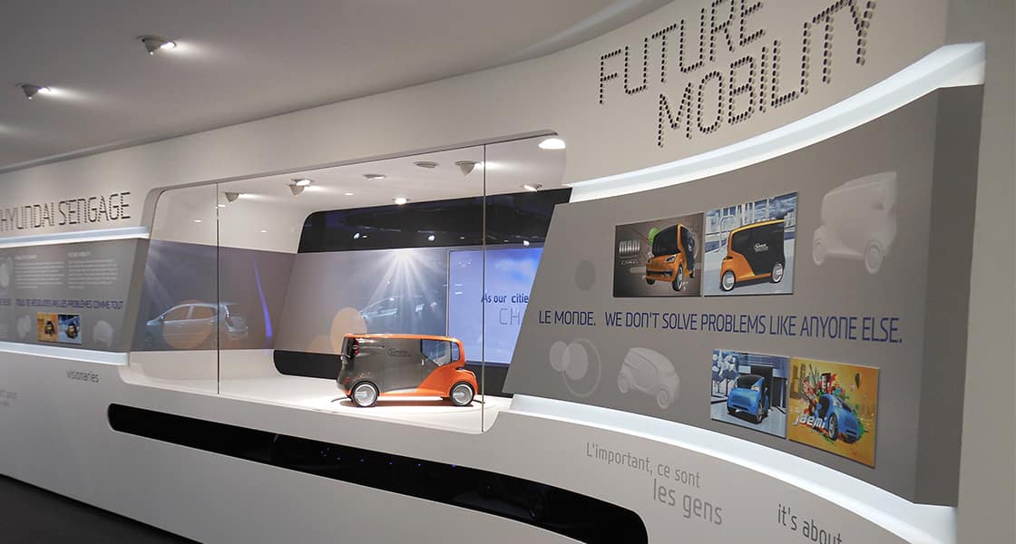 The exhibition wall about FUTURE MOBILITY