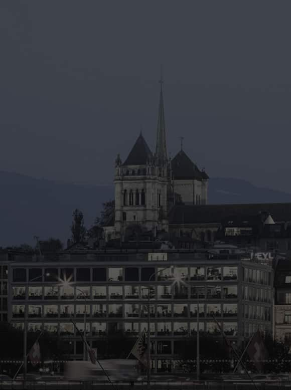 Night view of the Geneva City