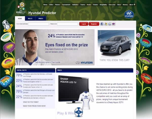 EURO2012 Hyundai Predictor Game