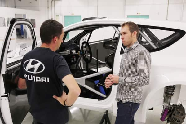 Chris Atkinson visits Hyundai Motorsport ahead of his maiden test with the team 1