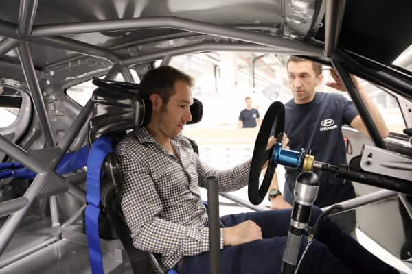 Chris Atkinson visits Hyundai Motorsport ahead of his maiden test with the team 2