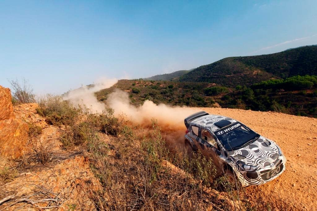 October i20 WRC Test Drives