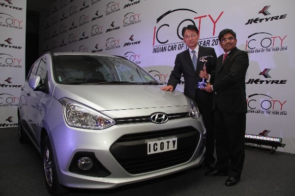 Grand i10 wins the 'Indian Car of Year 2014' award