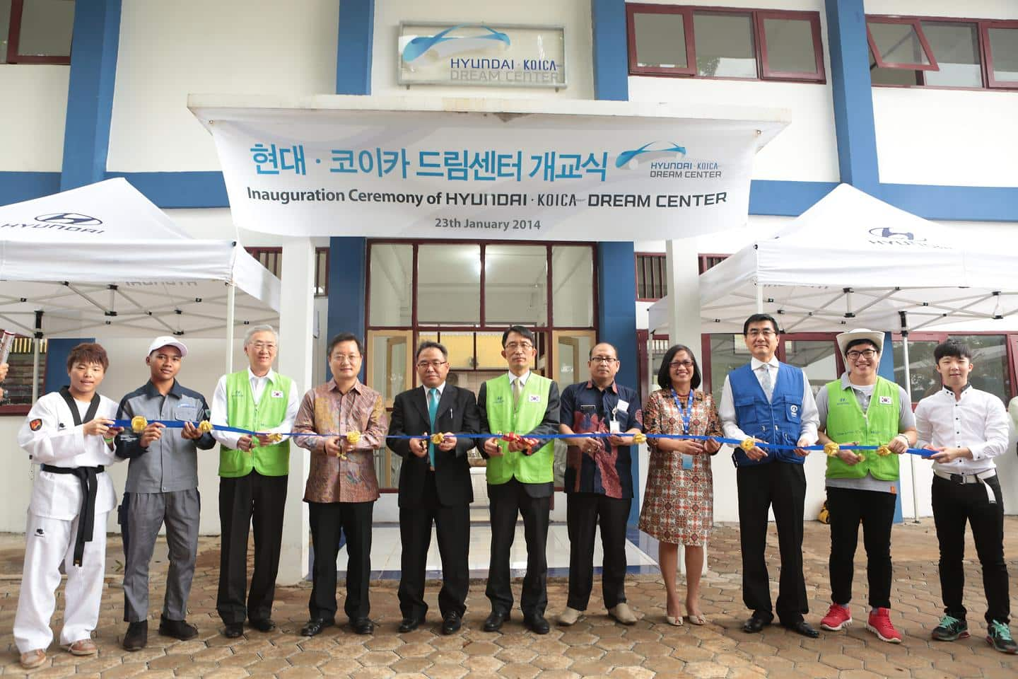 Inauguration Ceremony of HYUNDAI KOICA Dream Center in Indonesia 1
