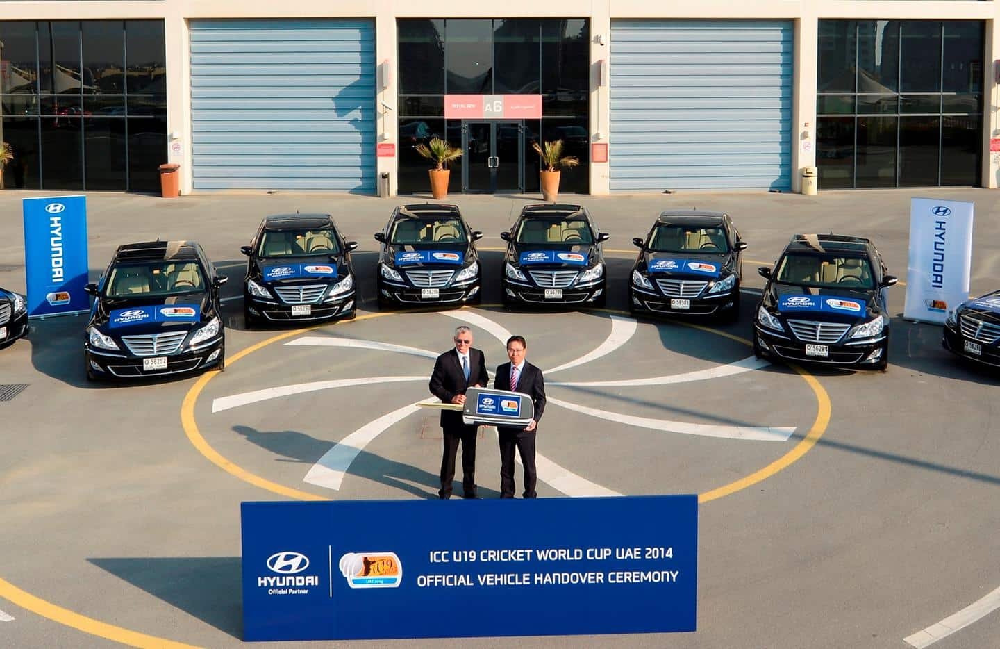 ICC takes delivery of new Hyundai fleet for the ICC U19 Cricket World Cup
