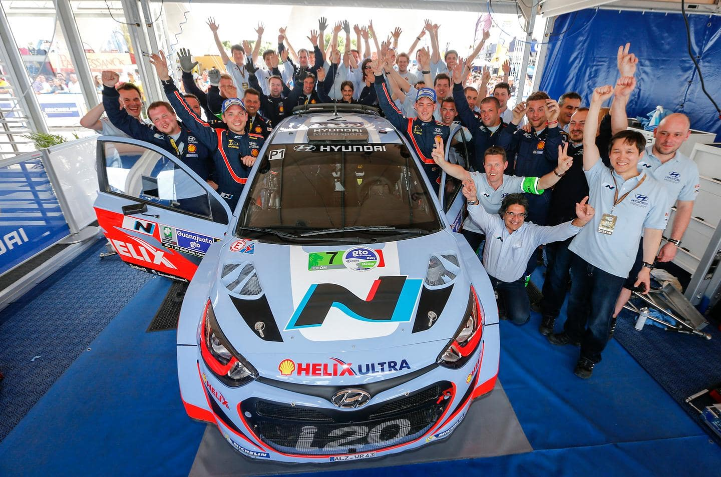 Twocar finish remains objective for Hyundai Shell World Rally Team after another solid day in Mexico