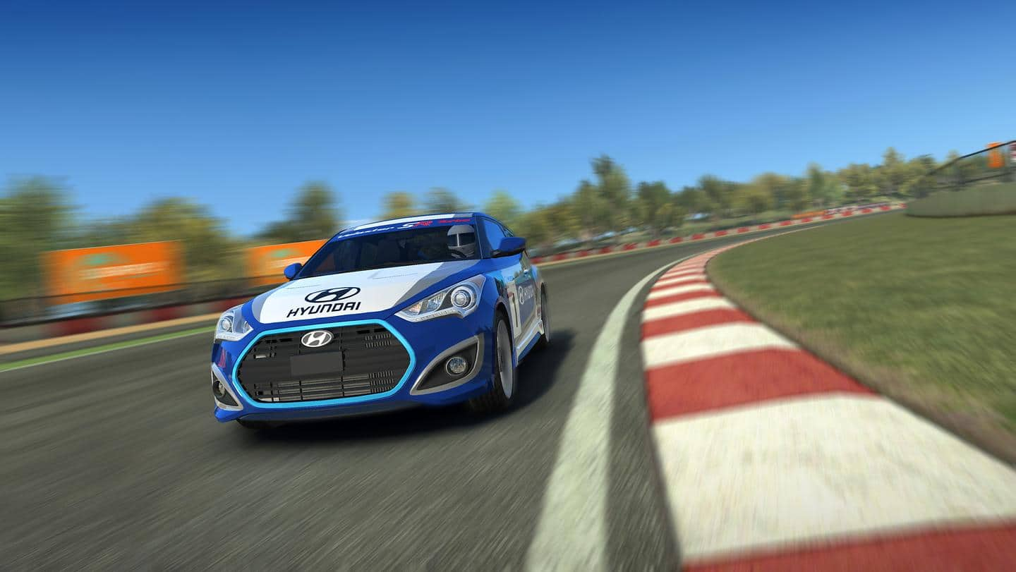 Hyundai Veloster Turbo Races for Charity with 'Real Racing 3' Mobile Game