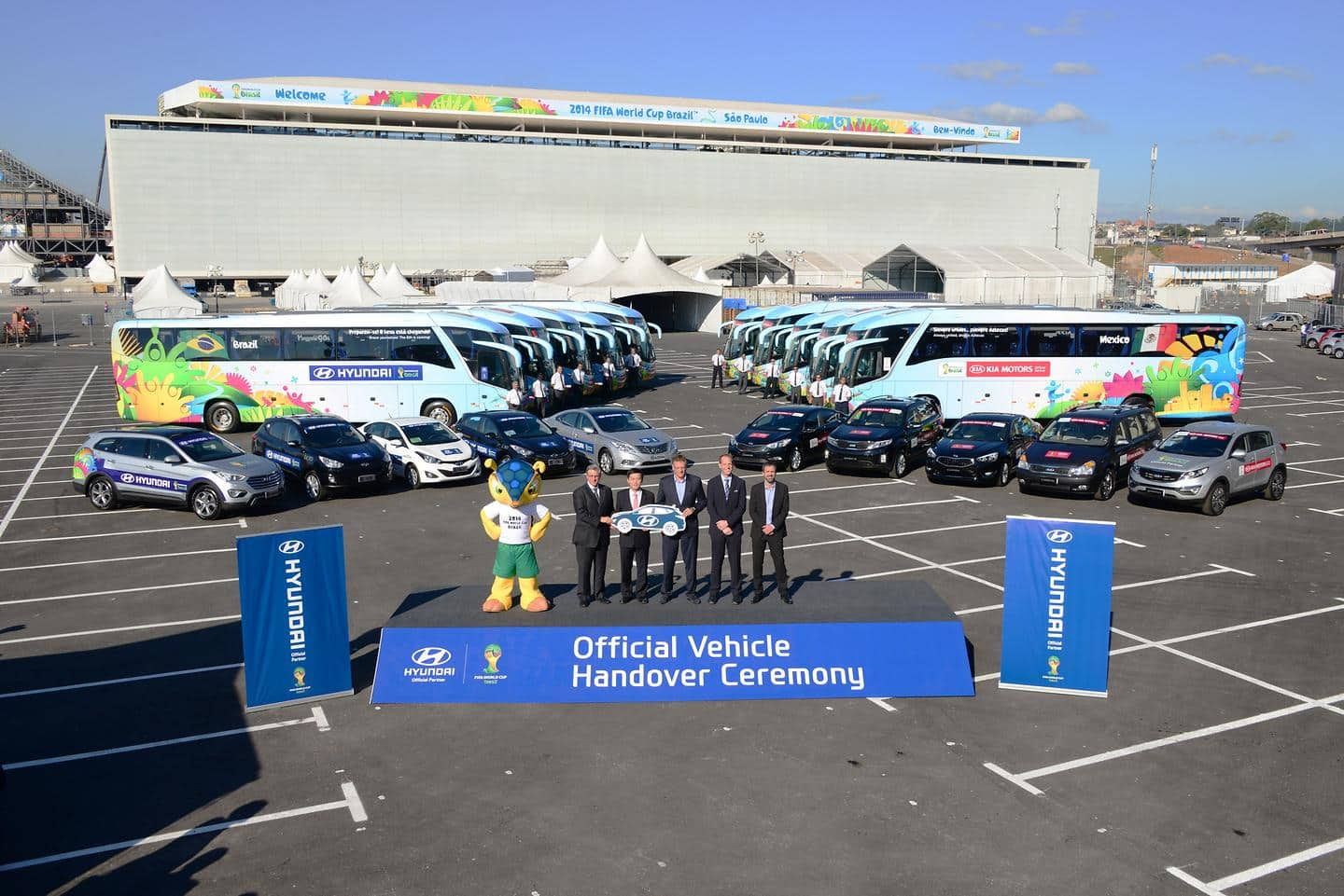 Hyundai Motor Delivers Vehicles for 2014 FIFA World Cup BrazilTM