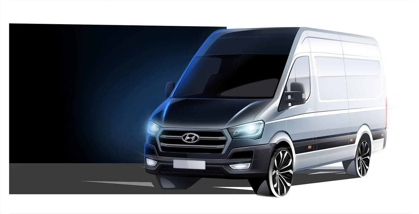 Hyundai Motor announces the arrival of a new cargo van H350 for Europe (exterior sketch)