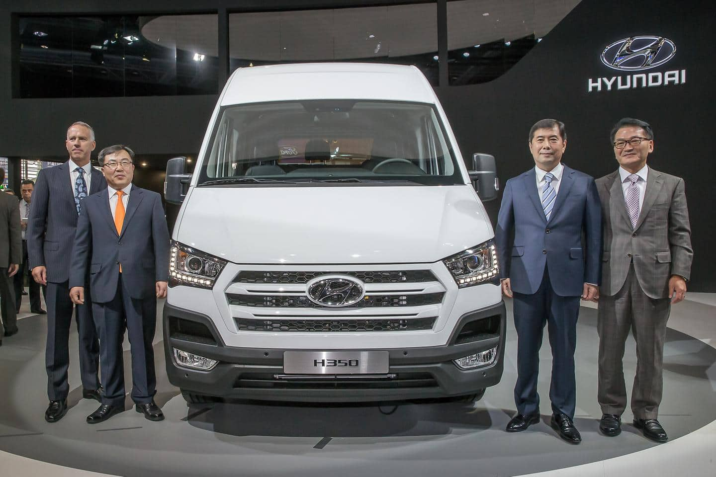 Hyundai Motor stages world premiere of H350