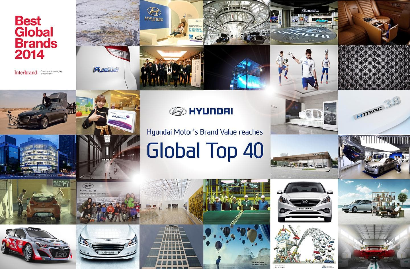 Hyundai Motor's Brand Value Reaches Global Top 40 Highest Ever