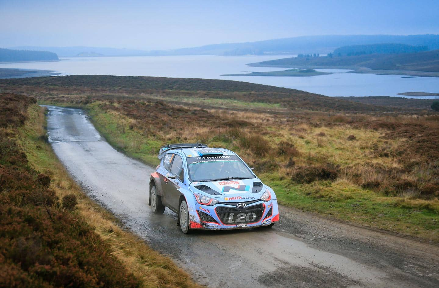Hyundai Shell World Rally Team brings debut WRC season to a close with 3 car finish in GB