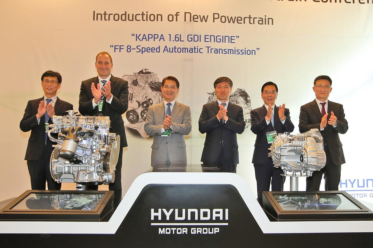 Hyundai Motor Unveils New Hybrid Dedicated GDI Engine and Front Wheel Drive 8 speed Automatic Transmission