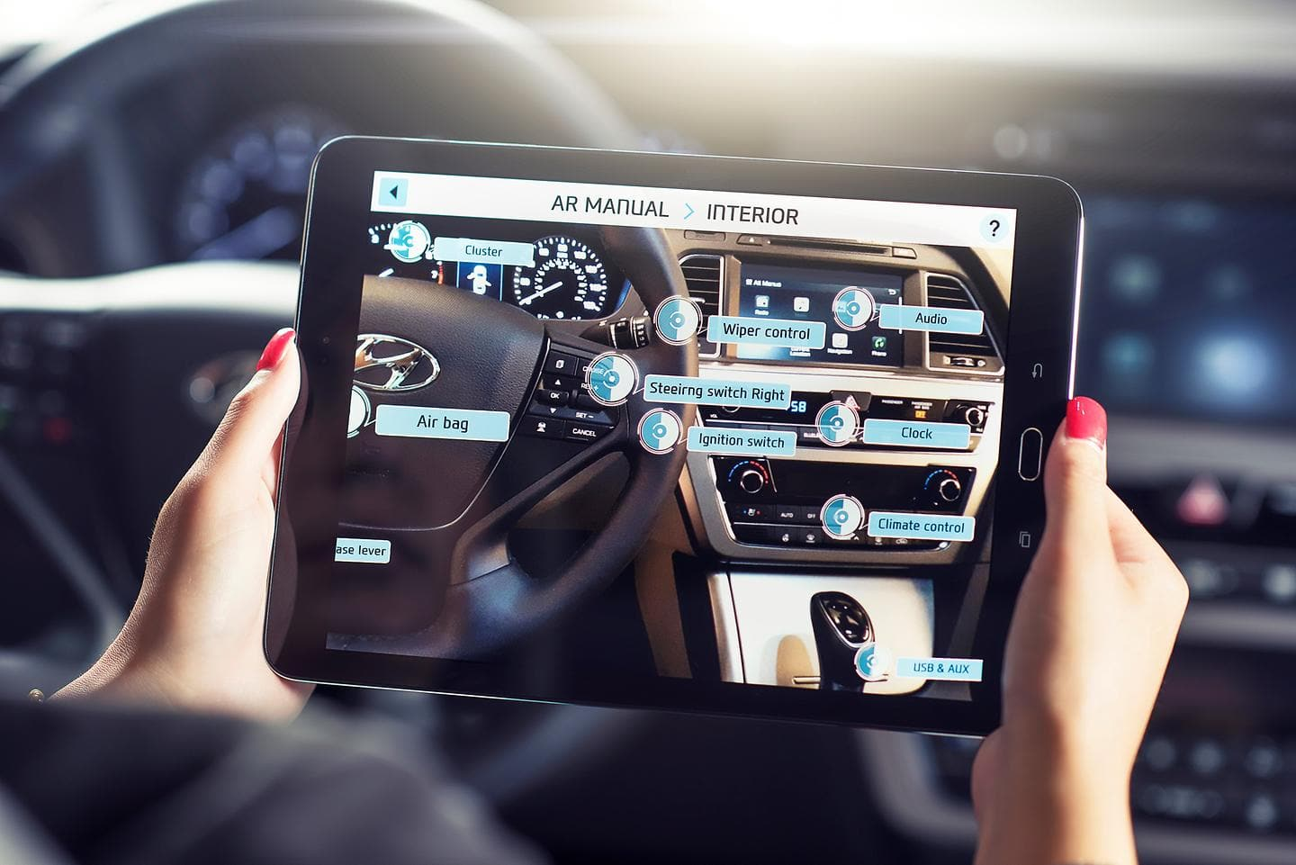 Hyundai Virtual Guide Introduces Augmented Reality to the Owner's Manual