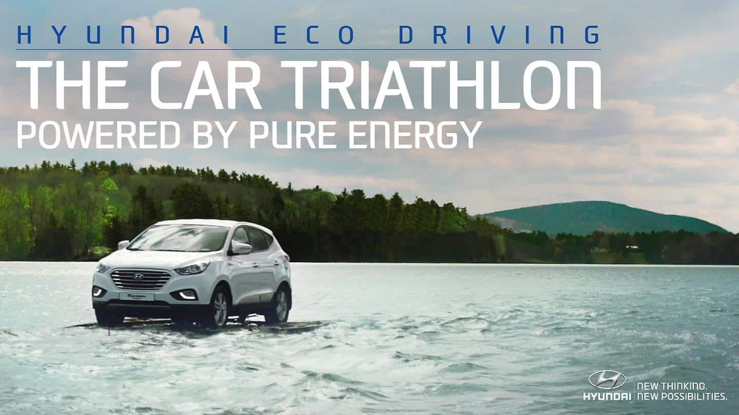 Hyundai Motor's Eco-friendly Line-up Completes World's First Car Triathlon with Team Hoyt
