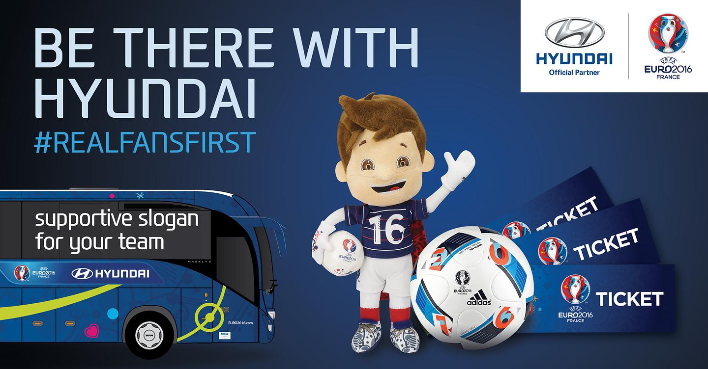 Hyundai Motor Runs 'Be There With Hyundai' Slogan Campaign for UEFA EURO 2016™