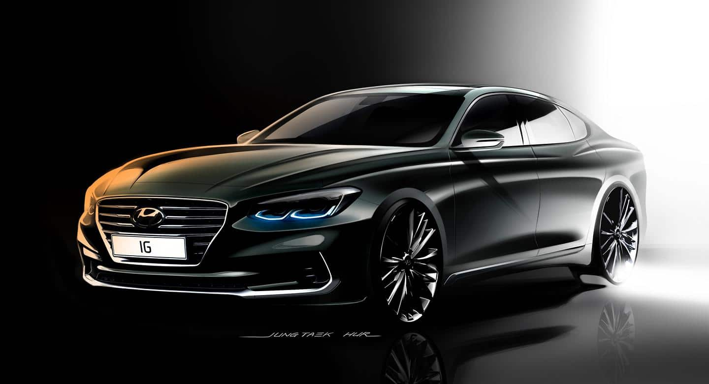 Hyundai Motor unveils first renderings of the All-new Azera
