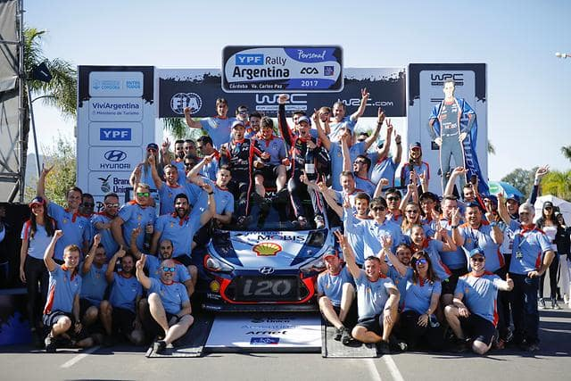 Two in a row for Hyundai Motorsport as Neuville triumphs in Argentina thriller