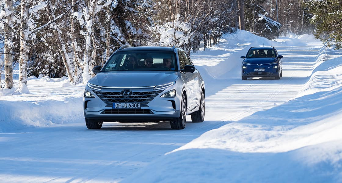 Hyundai Motor Winter-proves Electrified Vehicles in Swedish Lapland's Extreme Cold Conditions