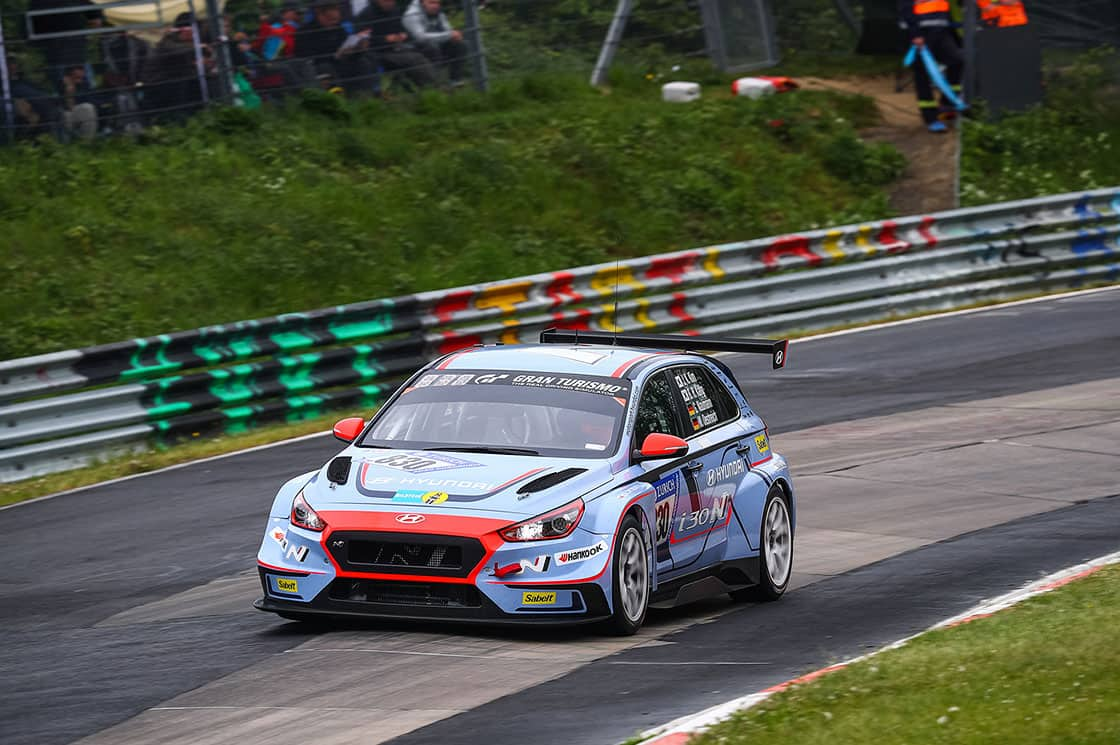 Hyundai i30 N TCR scores class podium result on Nürburgring 24 Hours debut
