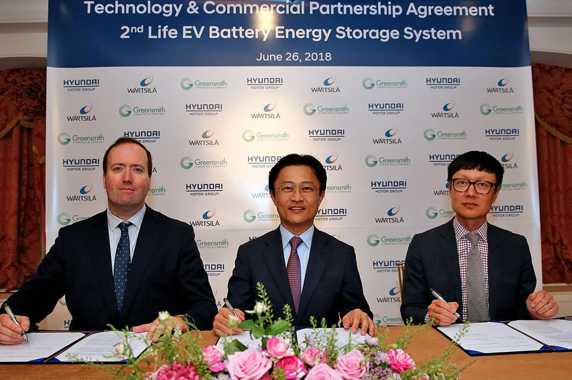 Hyundai Motor Group and Wärtsilä Forge New Partnership to Utilize Second-life Electric Vehicle Batteries