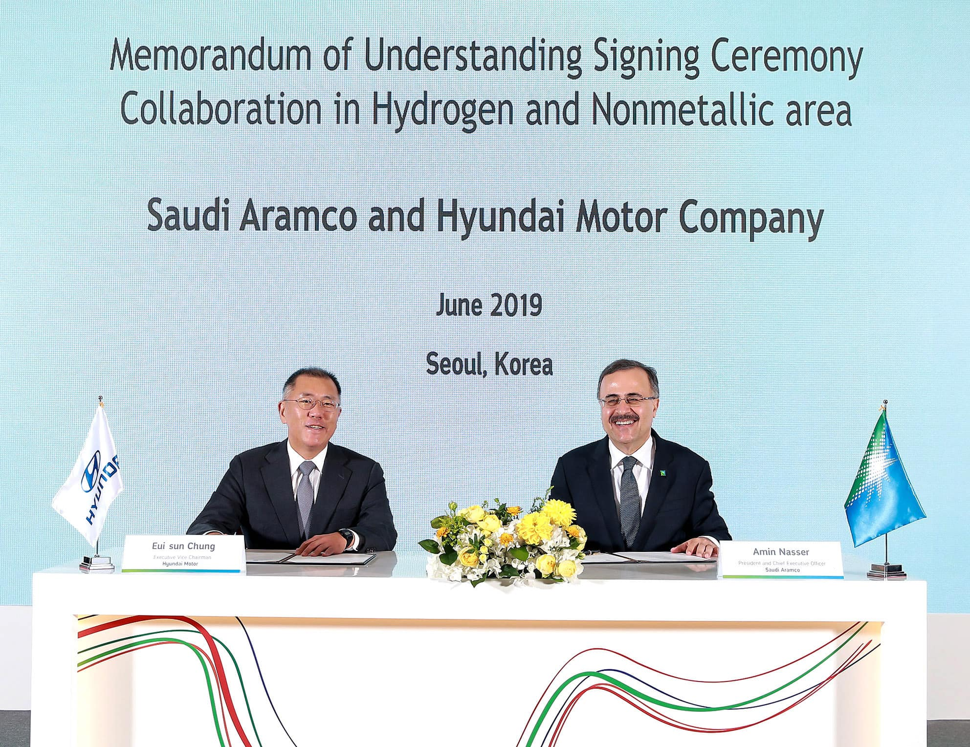 Hyundai Motor and Saudi Aramco to Collaborate on Hydrogen, Advanced non-metallic materials and Future Technologies