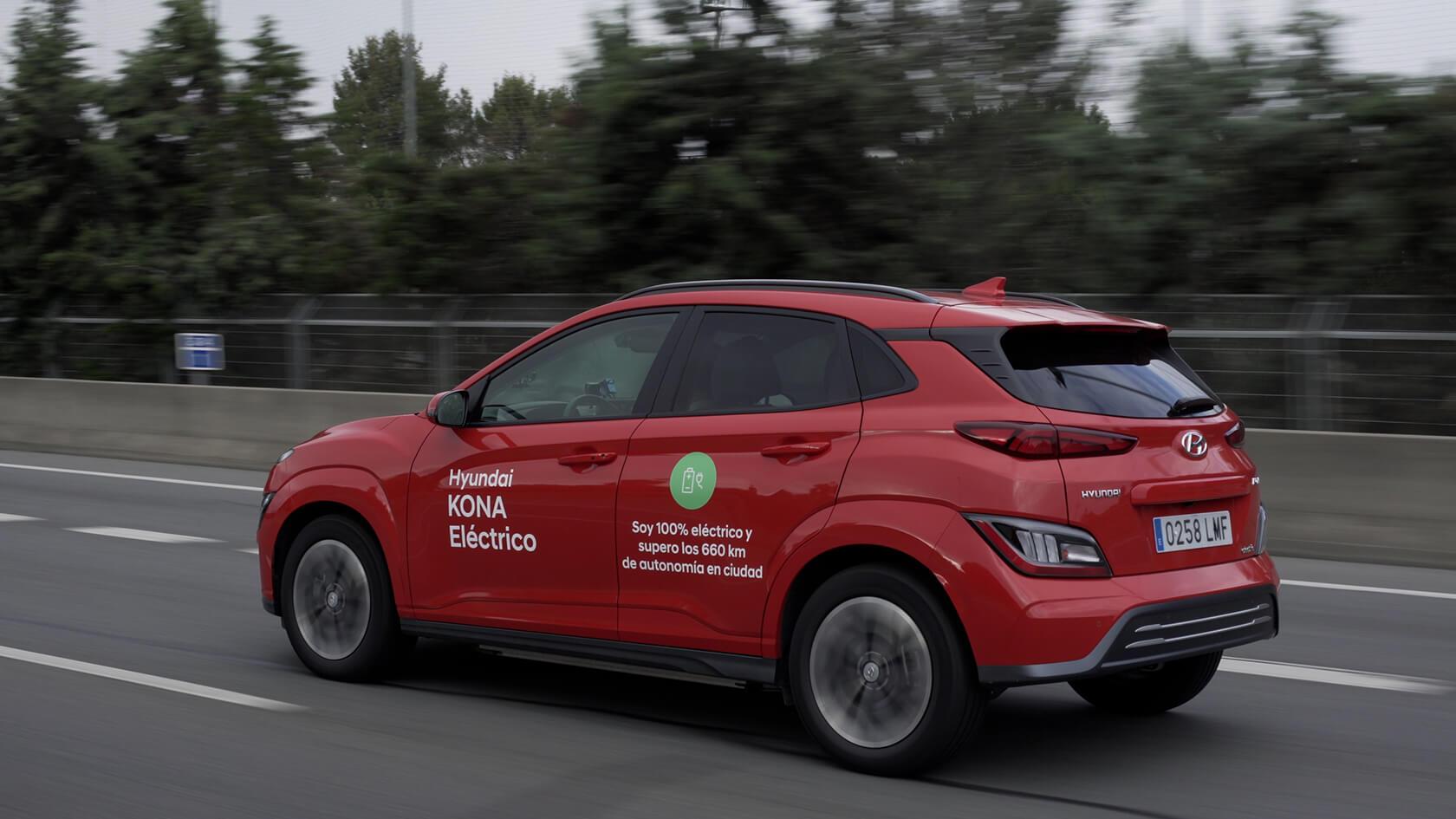 KONA eléctrico bate un nuevo récord en autonomía en ciclo urbano