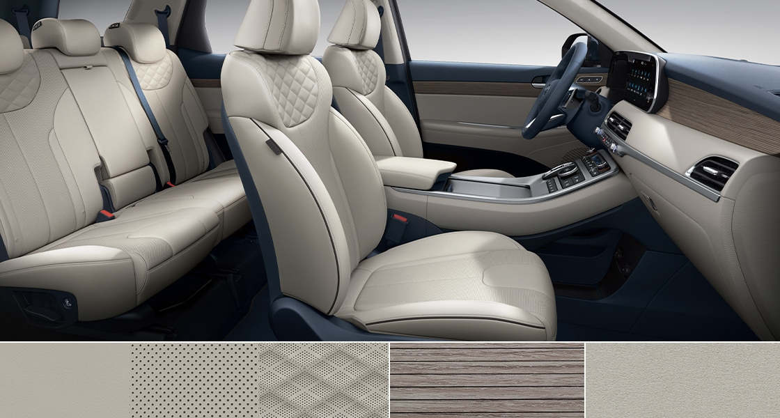 Palisade Interior Color (Warm Gray Nappa leather seat)