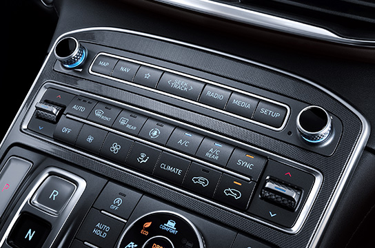 santafe Dual-zone full automatic air conditioning (air cleaning mode)